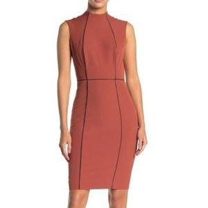 Alexia Admor Mock Neck Sleeveless Sheath Dress - 2